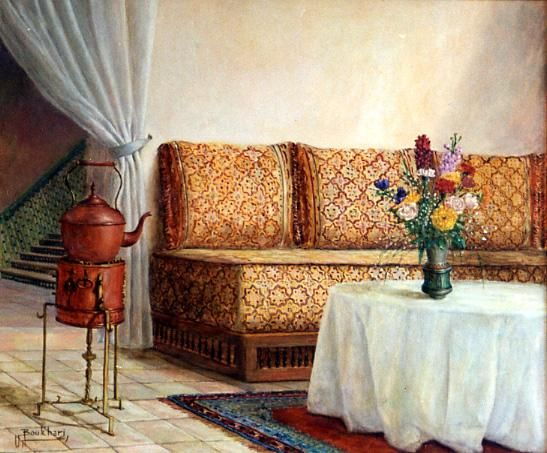 Peinture marocaine page 5 for Peinture salon maroc violet